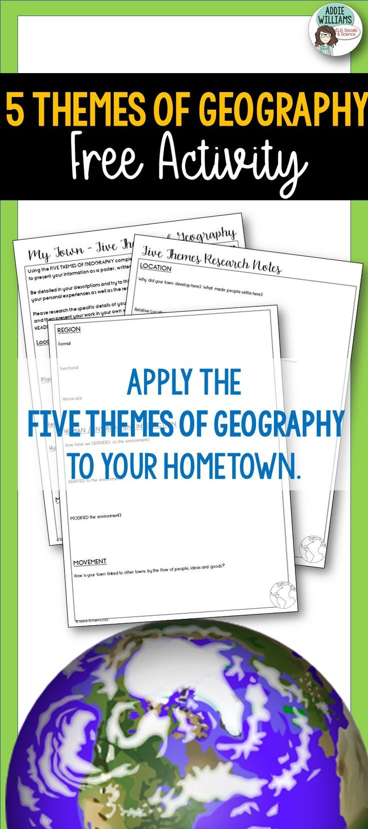 FREE Five Themes of Geography Activity!