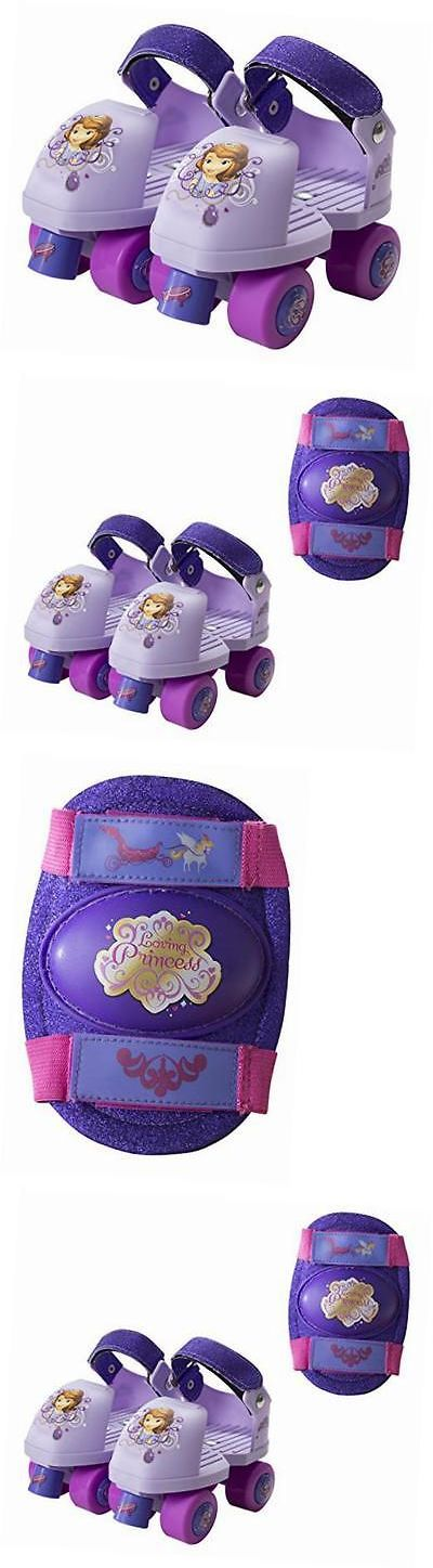 Other Inline and Roller Skating 1301: Disney Sofia The First Glitter Kids Roller Skates With Knee Pads - Junior Size -> BUY IT NOW ONLY: $34.74 on eBay!