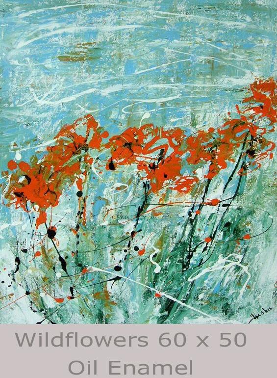 Wildflowers 60 x 50 Oil Enamel