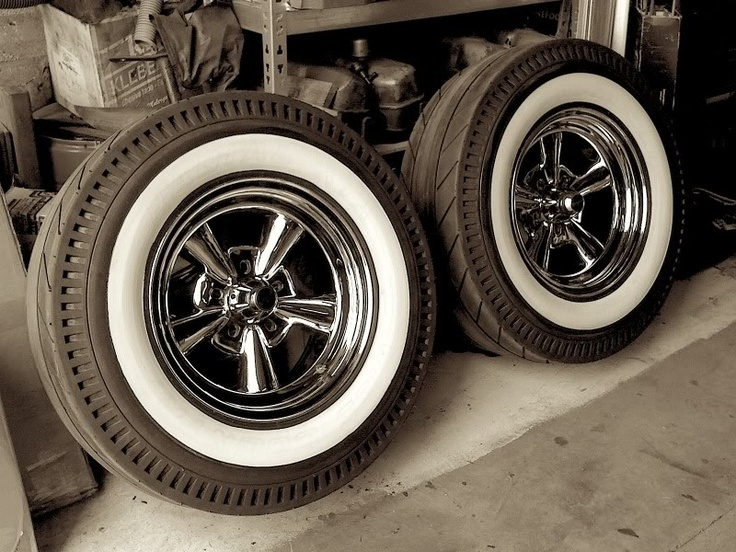 here are some pic of the vintage style hurst racing whitewall tires mounted on a set of astro supreme wheels