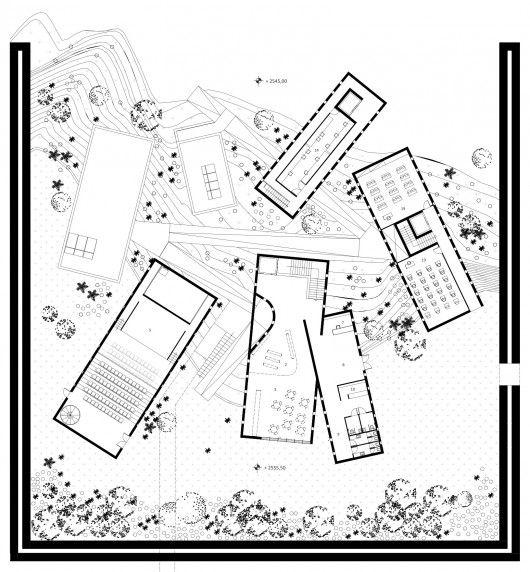 Runner Up [3]: Ground Floor Plan. Image Courtesy of UNESCO