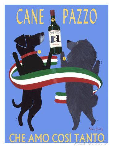 Cane Pazzo Giclee Print