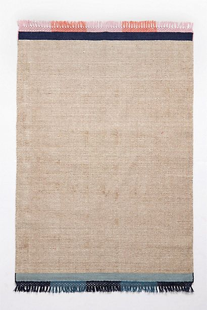 Picnic on layered rugs. (Striped Edge Flatweave Rug - anthropologie.com #Anthropologie #PinToWin)
