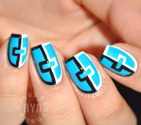 Blue Nail Polish One Finger: 25+ Best Ideas About Bright Blue Nails On Pinterest