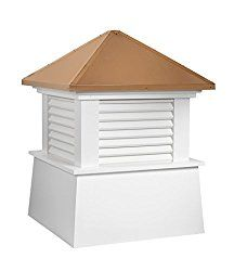 Good Directions Vinyl Manchester Louvered Cupola with Pure Copper Roof, Maintenance Free Solid Cellular PVC Vinyl, 30″ x 40″, Reinforced Roof and Louvers, Cupolas