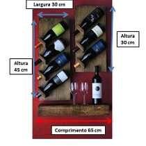 Adega De Madeira Rustica Adega Bar Vinho Prateleira