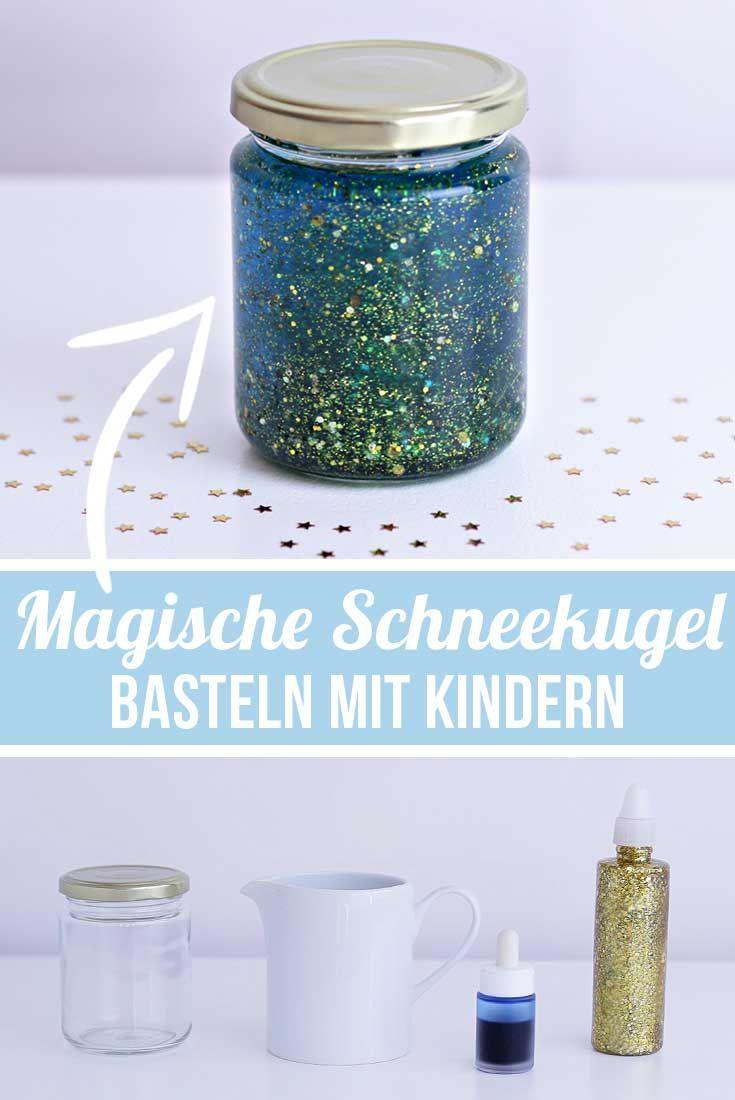 Basteln mit Kindern - Calming Jar - DIY Ideen | Magische Schneekugel | Bastelideen Kindergarten, Grundschule