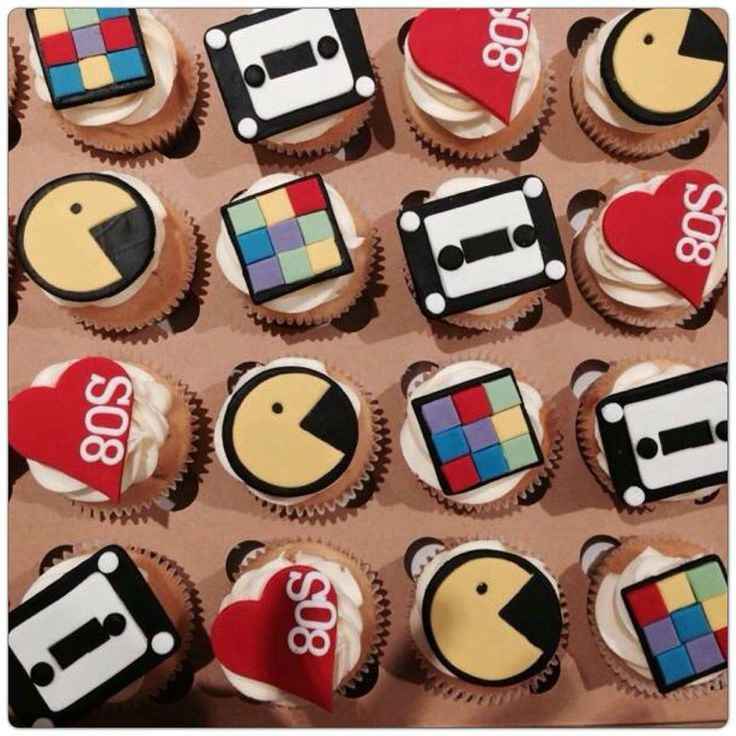 80s Theme Cupcakes!  Contact Bella's for a quote- 0430 844 633 or admin@bellascupcakeworld.com