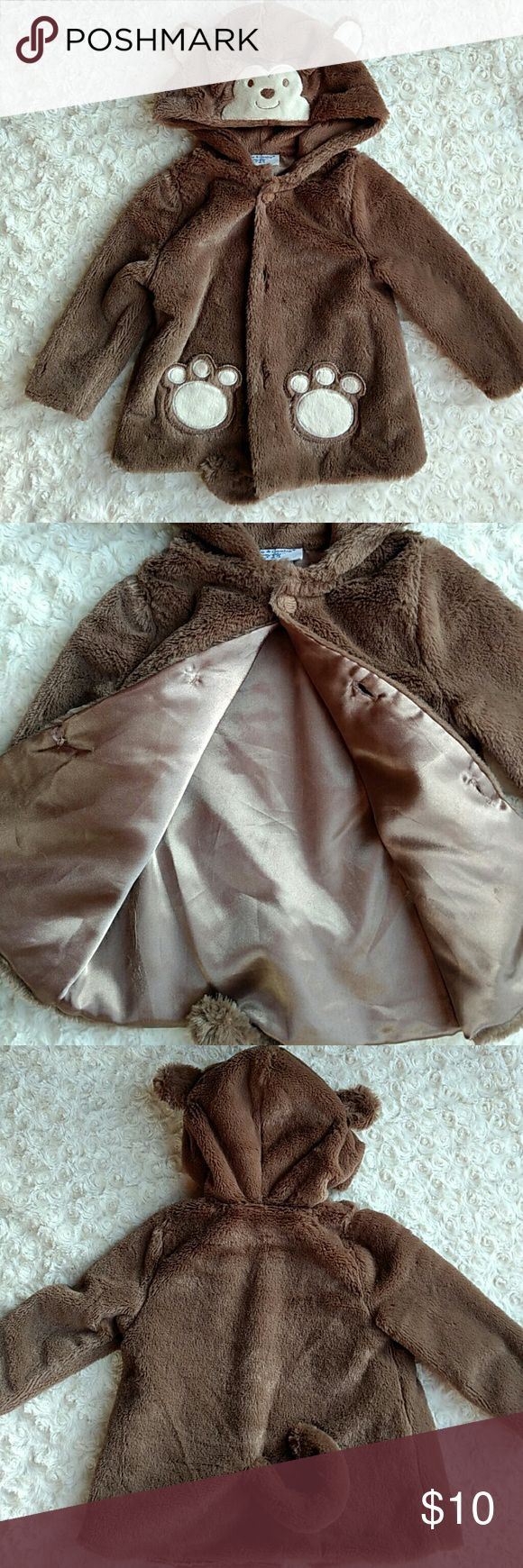 Adorable Monkey Jacket! Worn twice! Soft faux fur with ears and a cute little tail. Pockets are paw prints. Inside is fully lined. Kyle & Deena Jackets & Coats