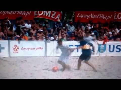GREMBACH ŁÓDŹ vs. HEMAKO SZTUTOWO (mecz finałowy) - BEACH SOCCER USTKA 2015
