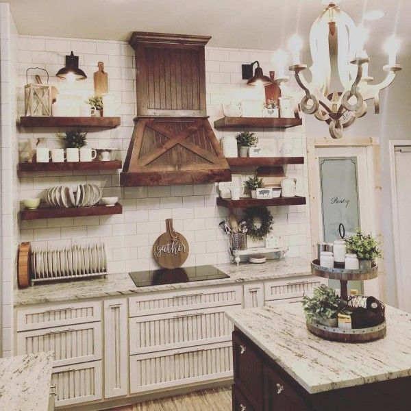 Those cabinets! Love this #farmhouse kitchen! #homedecor @istandarddesign