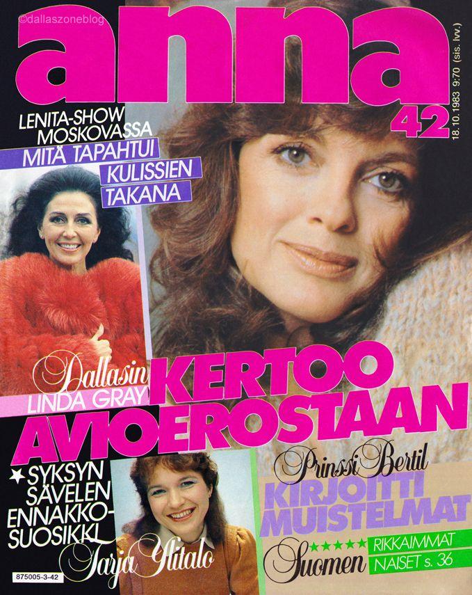 Linda Gray tells all about her divorce... again. Finnish Anna-magazine 1983.