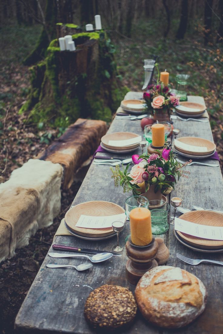 Idée déco table mariage viking