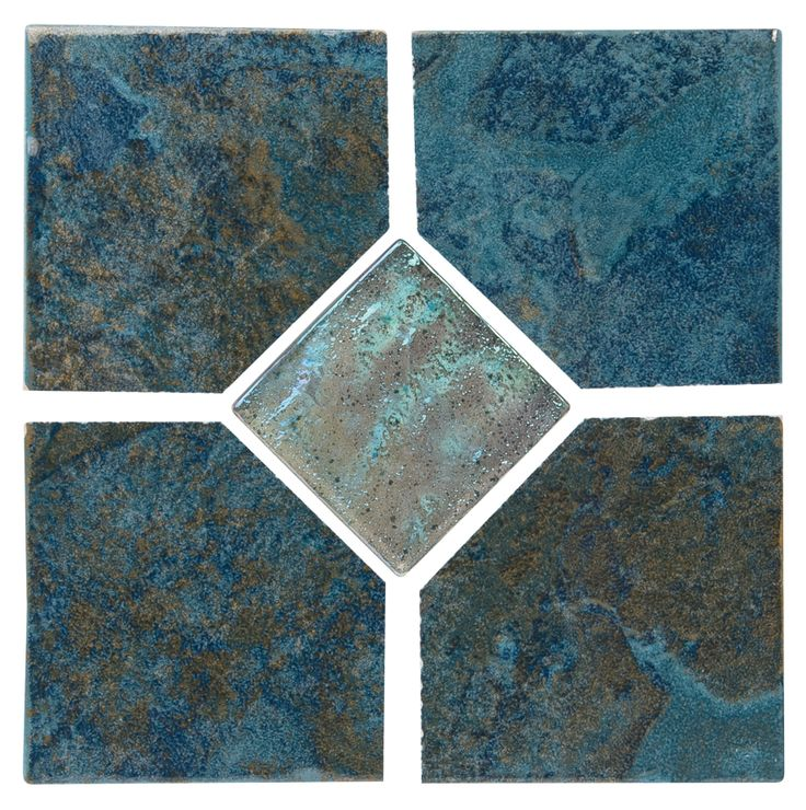 """Coral - Teal Deco Coral series tile from NPT. A bolder earthy tile with moderate variance. Multiple color choices in 2""""x2"""" and 6""""x6"""" with optional accent tiles."""