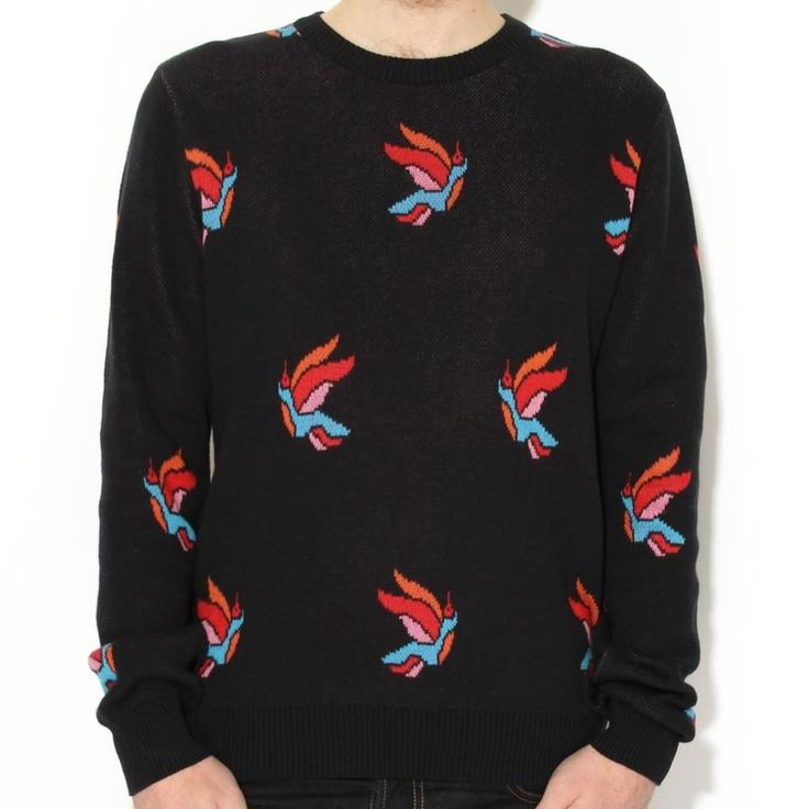 Rockwell by Parra Freedom Jaquard Knit Navy | Wellgosh @wellgosh