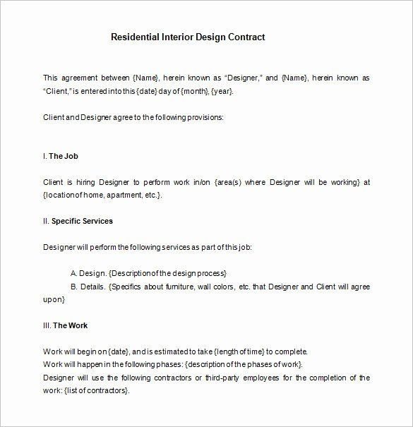 Interior Design Contract Template Best Of Interior Design Letter Agreement Templat In 2020 Contract Interior Design Web Design Contract Interior Design Resume Template