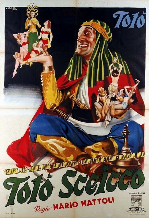 "Mario Mattoli's ""Totò sceicco"" (Italian title: ""Totò sheik"", 1950), starring Totò (Antonio De Curtis), Tamara Lees and Aroldo Tieri."