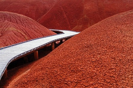 Central Oregon, USA  by Hubard - The Painted Hills in the John Day Fossil Beds in central Oregon.