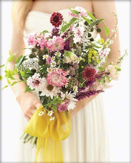 Свадебные букеты из полевых цветов - Lawedding