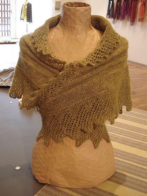 Knit wrap...this would be so comfy to wear around a campfire (especially if knit in bulkier yarn)! #ravelry