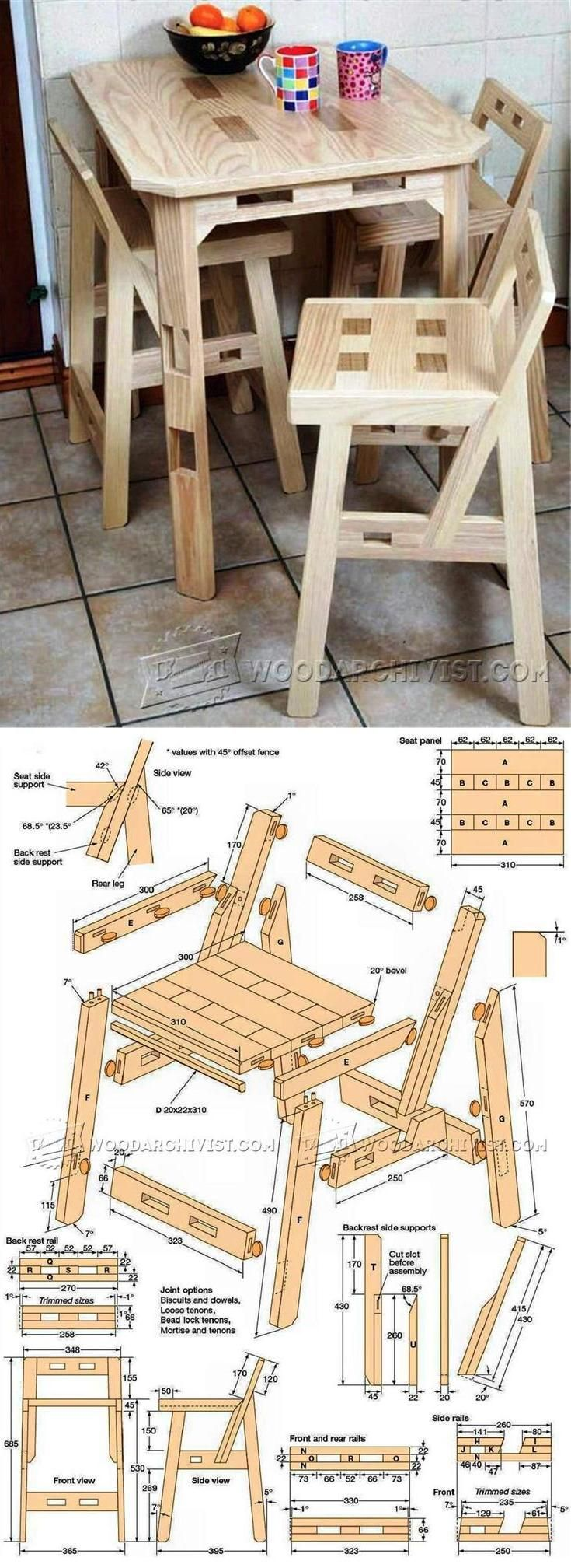 Kitchen Chair Plans - Furniture Plans and Projects | WoodArchivist.com