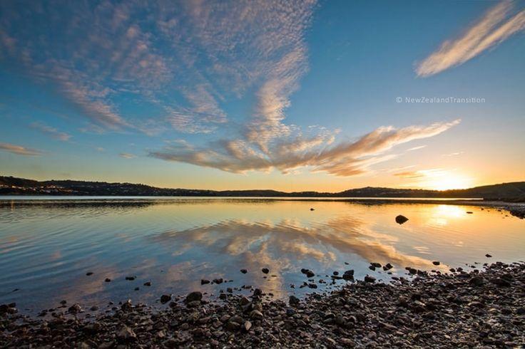 sunset reflection at Pauatahanui inlet
