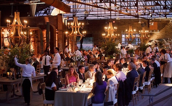 The Evergreen Brick Works: Holcim Gallery Wedding Reception (550 Bayview Avenue, Toronto, Ontario, M4W 3X8, Canada). http://ebw.evergreen.ca [More info at http://ebw.evergreen.ca/files/EBW-Event-Rental-Spaces.pdf ]