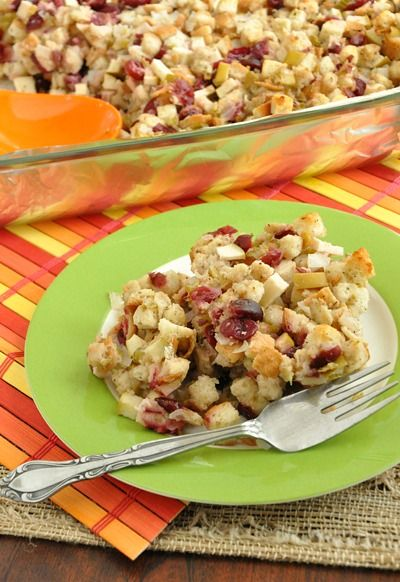 Baked Apple Cranberry Stuffing: Probably on the top of my list to make. :)