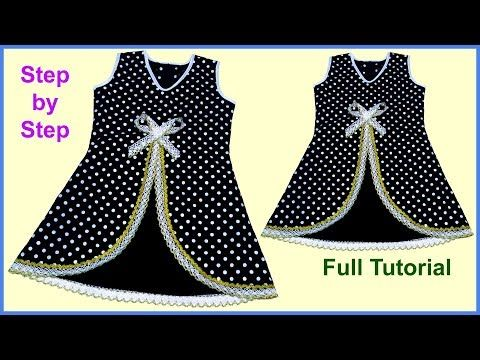 99fac4cc4 Pyaara A Designer Baby Frock Saral Tareeka Banaana Cutting ...