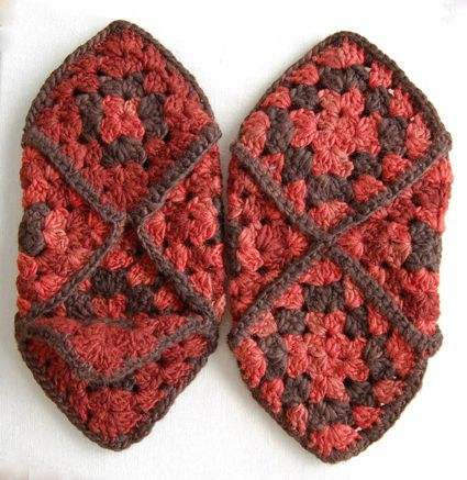 Granny Square Slippers--I still have some my Grandma made!
