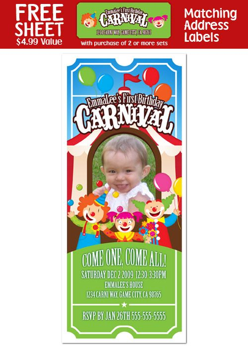 17 best ideas about Clown Birthday Parties – Clown Birthday Party Invitations