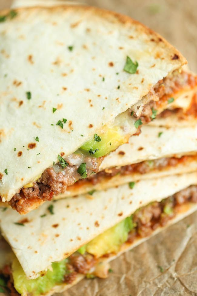 Cheesy Avocado Quesadillas - Easy, no-fuss quesadillas that are ...