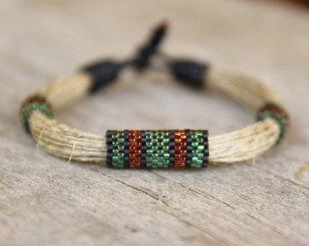 Pulsera africana Mens, Mens cuerda pulsera, pulsera de la cuerda, Mens abalorios pulsera, pulsera de fibra, joyería del Mens, Mens regalos, pulsera de la secuencia