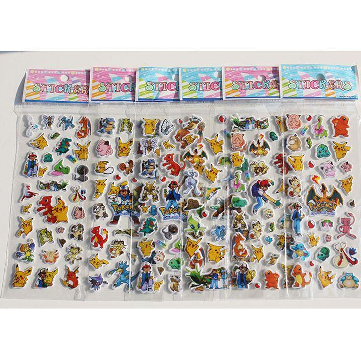 6 Feuilles/set Autocollants pour Enfants Accueil Mur Décor sur Ordinateur Portable Mignon Mini Animaux 3D Autocollant Decal Réfrigérateur Planche À Roulettes Doodle