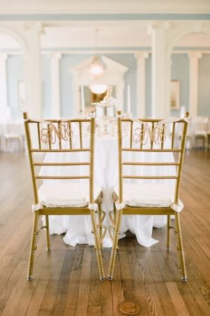 Monogram Chair Decor