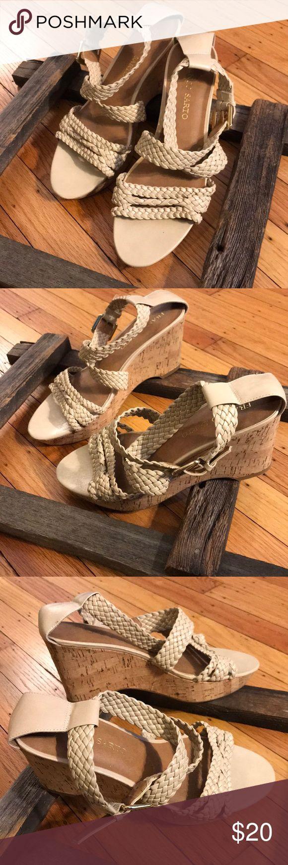 Franco Sarto sandals Beautiful Franco Sarto nude/ beige wedge sandals. Franco Sarto Shoes Sandals