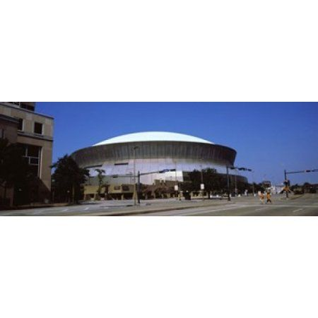 Low angle view of a stadium Louisiana Superdome New Orleans Louisiana USA Canvas Art - Panoramic Images (36 x 13)