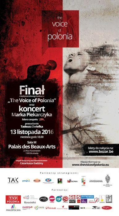 13 listopada w Palais des Beaux Arts w Brukseli 8 finalistów z 5 krajów walczyć będzie o Grand Prix konkursu The Voice of Polonia.  Link to Poland jest patronem medialnym konkursu.