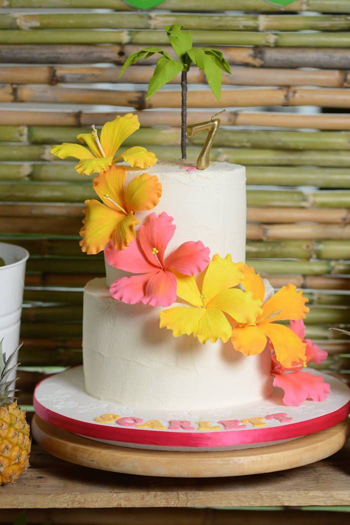 Hawaiian Luau themed birthday party via Kara's Party Ideas KarasPartyIdeas.com #hawaiianluauparty (37)