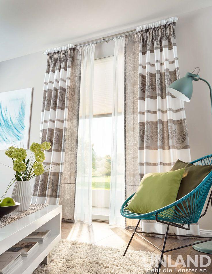 Unland Calin - Vorhang, Fensterideen, Gardinen und Sonnenschutz - curtains, contract fabrics, pleated blinds, roller blinds and more. Made in Germany