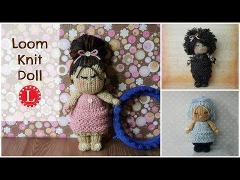 (23) LOOM KNIT Dolls - Cupcake Skirt Doll Project Pattern for 24-peg loom by Loomahat - YouTube
