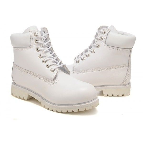 timberland white Timberland Мужские ботинки 6 дюймов Все Белый... ❤ liked on Polyvore featuring shoes, boots, sneakers, tims and zapatos