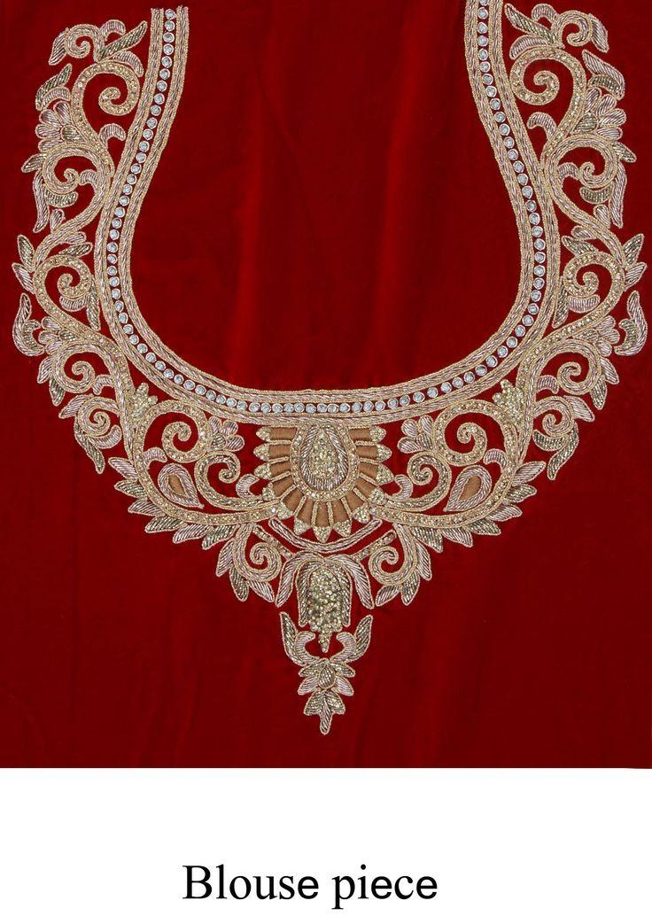 Maroon velvet lehenga adorn in zardosi and pearl for Embroidery office design 7 5 full