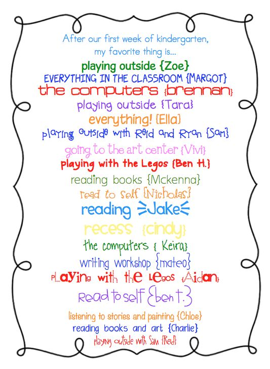have each child tell you their favorite thing about school after the first week...then send home with the weekly newsletter: Favorite Things, Weeks Newsletter, Cute Ideas, 1St Weeks, Weeks Then Send, Call Kindergarten, Weeks Favorite, First Weeks, Kindergarten First Week