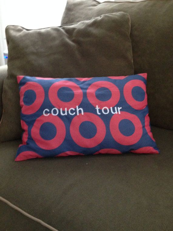 Phish Pillow  Couch Tour by TabootApparel on Etsy