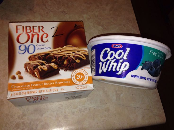Weight watchers snack! Heat up your brownie and put frozen whipped topping on top. 2pts of heaven!!