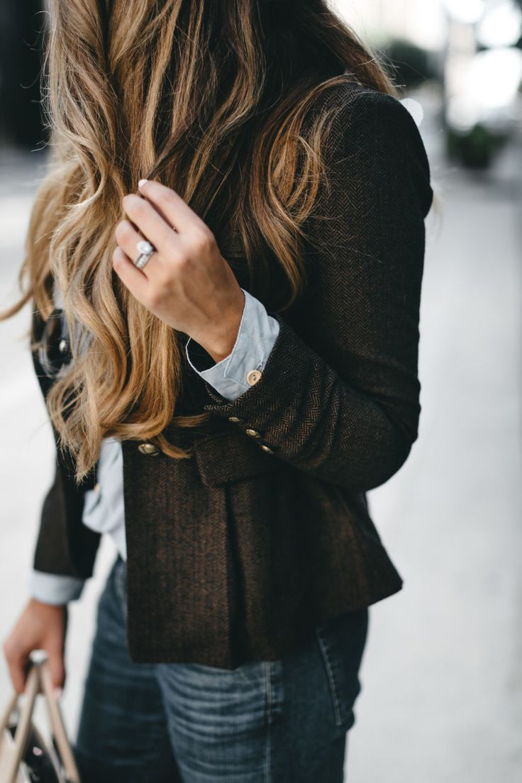 Fall Herringbone Blazer | The Teacher Diva: a Dallas Fashion Blog featuring Beauty & Lifestyle