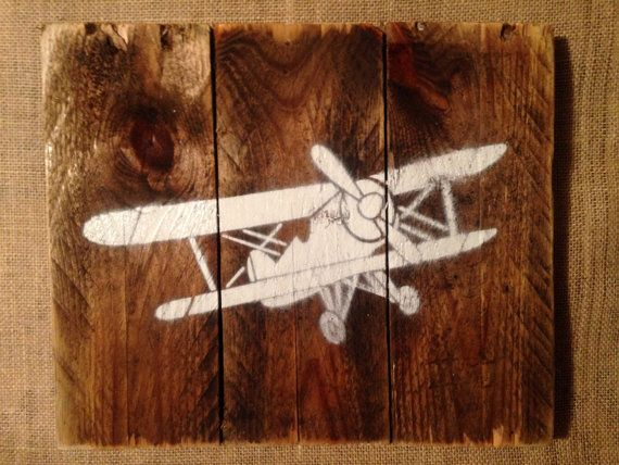 Vintage Airplane wall art by NatureRefined on Etsy, $30.00