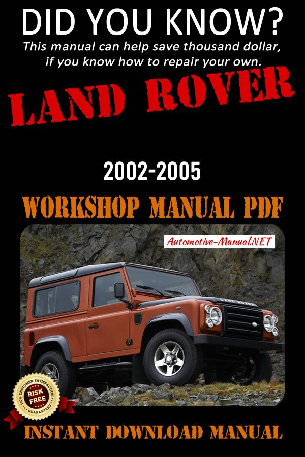 Download Land Rover 2002 2005 Workshop Manual Pdf Land Rover Service Land Rover Manual