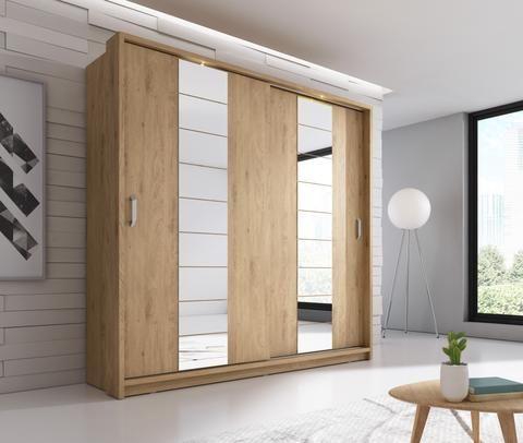 Arti 14 Oak Shetland 2 Sliding Door Wardrobe 220cm